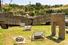 Aksum (Axum),埃塞俄比亚废墟  库存照片