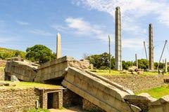 Aksum (Axum),埃塞俄比亚废墟  免版税库存图片