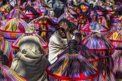 Basket market in Aksum, Ethiopia. royalty free stock photo