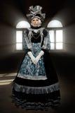Aktörer i den Venetian dräkten Arkivfoton