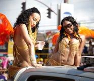 Aktörer i en karneval, Jamaica Arkivbilder