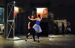 Aktörer på moderna konster Biennale i Moskva Arkivfoton