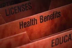 akta korzyści zdrowotne Zdjęcia Stock