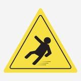 Akta sig av halt stock illustrationer