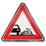 Akta sig av stenar och grus stock illustrationer