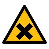 Akta sig den gula teckenisolaten för det irriterande symbolet på vit bakgrund, vektorillustrationen EPS 10 vektor illustrationer