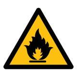 Akta sig symbolisolaten för brännbar gas på vit bakgrund, vektorillustrationen EPS 10 stock illustrationer