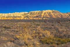 Aktau - белые горы Altyn Emel, национальный заповедник kazakhstan Стоковое Изображение
