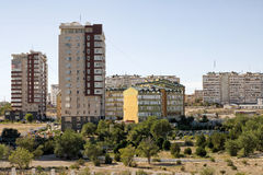 Aktau city. Modern homes in Aktau, Kazakhstan. The view from the top Stock Image