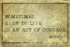 Akte moed Seneca royalty-vrije stock afbeelding