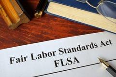 Akte van de Arbeidsnormen van FLSA het Eerlijke royalty-vrije stock foto