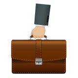 Aktenkoffer in der Hand Lizenzfreie Stockfotos