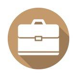 Aktenkoffer, flache Ikone des Portfolios Lizenzfreies Stockbild