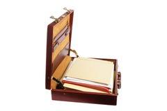 Aktenkoffer mit Dateien Lizenzfreies Stockfoto