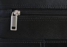 Aktenkoffer-Reißverschluss-Detail Lizenzfreies Stockbild