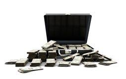 Aktenkoffer voll Geld lizenzfreie abbildung