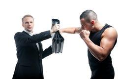 Aktenkofferverteidigung Stockbilder