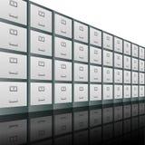 Aktenschrank-Hintergrund Stockfotos
