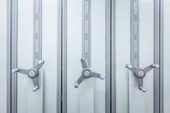 Aktenschrank mit Rad für Geschäftsdokumentgeheimnis und -sicherheit Stockfoto
