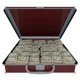 Aktentas met geld royalty-vrije illustratie