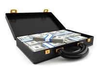 Aktentas met geld vector illustratie