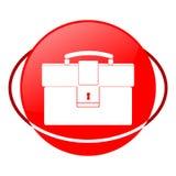 Aktentas vectorillustratie, Rood pictogram stock illustratie