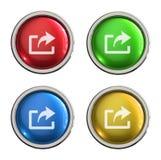 Aktie eller glass knapp för export royaltyfri illustrationer