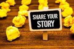 Aktie för handskrifttexthandstil din berättelse Text b för minne för tankar för nostalgi för historieberättande för begreppsbetyd royaltyfri fotografi