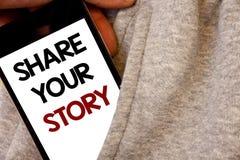 Aktie för textteckenvisning din berättelse Skriftlig blac för begreppsmässiga för fotoerfarenhetshistorieberättande för nostalgi  arkivbilder