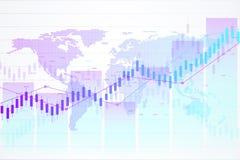 Aktiemarknad och utbyte Diagram för stearinljuspinnegraf av aktiemarknadinvesteringhandeln Aktiemarknaddata Envis punkt royaltyfri illustrationer