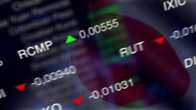 Aktiemarknadaffärsbakgrund med den Japan flaggan stock video