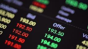 Aktiemarknadbrädebörs lager videofilmer