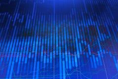 Aktiemarknaden citerar grafen royaltyfri illustrationer