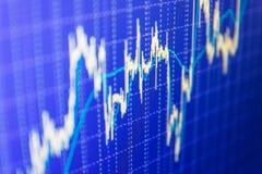 Aktiemarknaden citerar grafen stock illustrationer