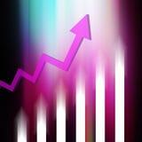 Aktiemarknaden Graphs färgrikt elegant på abstrakt bakgrund Arkivbild