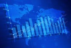 Aktiemarknadfinansdiagram Arkivbild