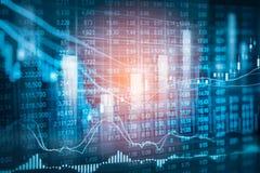 Aktiemarknadindikator och sikt för finansiella data från LETT double royaltyfri fotografi