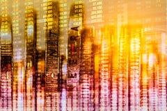 Aktiemarknadindikator och sikt för finansiella data från LETT double arkivbilder