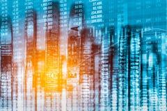 Aktiemarknadindikator och sikt för finansiella data från LETT double royaltyfria bilder