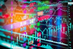Aktiemarknadindikator och sikt för finansiella data från LETT double royaltyfria foton