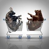 Aktiemarknadshopping Stock Illustrationer