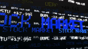 AktiemarknadTickers Loopable stock video