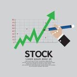 Aktien-Aufstieg auf Lager Stockbild