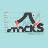 Aktien mit Bein-Typografie-Design Lizenzfreies Stockbild