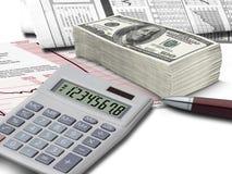 Aktien- und Bargeld Lizenzfreies Stockbild