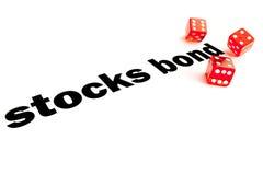 Aktien und Obligationen Entscheidung Lizenzfreies Stockbild