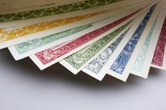 Aktien und Obligationen Nahaufnahme Lizenzfreies Stockbild