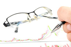 Aktienhandel Stockfoto