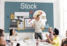 Aktienhandel-Buchhaltungs-Finanzierung, die Bankwesen-Konzept revidiert Stockfotografie
