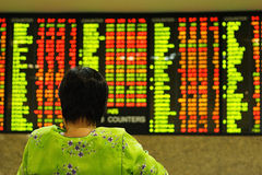 Aktienindex Stockbild
